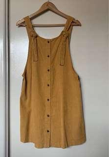 Pinafore dress mustard colour #SwapAU