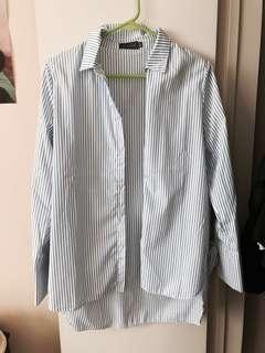 Blue/White button up shirt