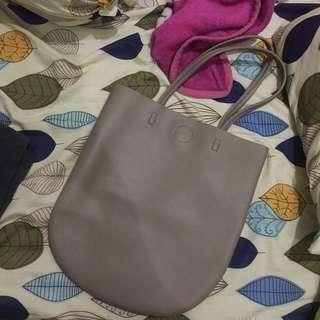 NEW two tone miniso bag