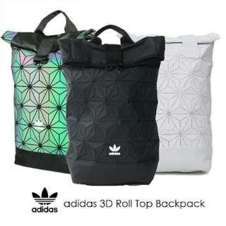 Instock Adidas x Issey Miyake 3D Roll Top Backpack - Full Black/ Dazzle/ Colorful/ Nude Pink/ Navy/ Maroon Red/ White/ Blue