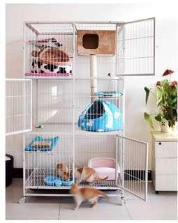 🚚 CHEAP BLACK 2 LEVEL Large Cat/Chinchilla Cage