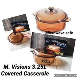 🚚 BNIB Visions 3.25L Covered Casserole