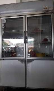 2 door chiller freezer for sale