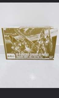 BNIB HG RX-0 Unicorn Gundam Phenex 03 Unicorn Mode (gold coating)