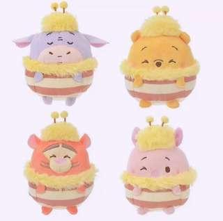 【日本直送】蜜蜂造型小熊維尼 & Friends ufufy 香味公仔系列