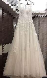 Wedding Dress 1.618 婚紗裙 大拖尾 本地設計修身