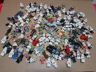 150 Lego Star Wars Minifigure Lot