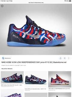 *STEAL* kobe 9 independence day US9.5