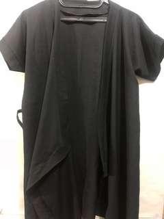 Black casual kimono