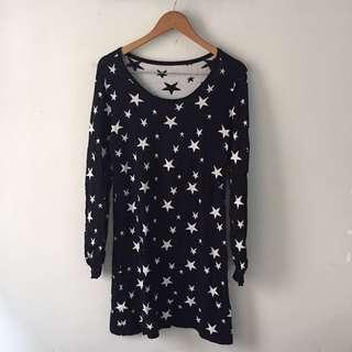 stars sweater dress