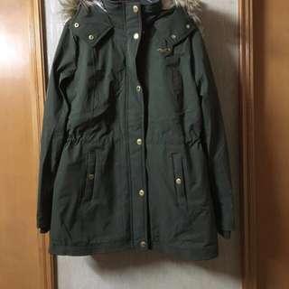 hollister軍綠色外套