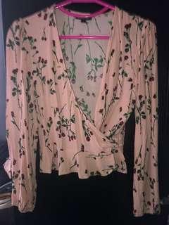 Top Shop Floral shirt Size XS