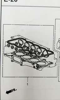 Honda Civic Top Over Haul Gasket Kit 1.8cc Model:FD1 , Genuine Part. Made In Japan.