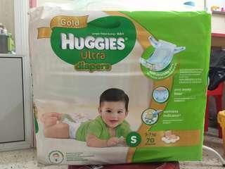 Huggies Ultra (Gold) S size