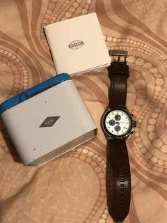 Authentic Leather Fossil Watch