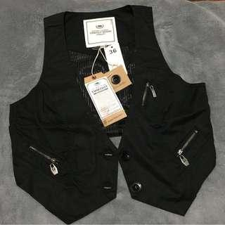 TIMEOUT new with tag black waistcoat / vest #APR10
