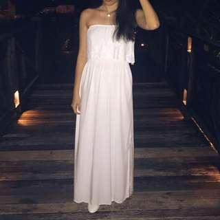 🚚 Cotton On White Tube Maxi Dress