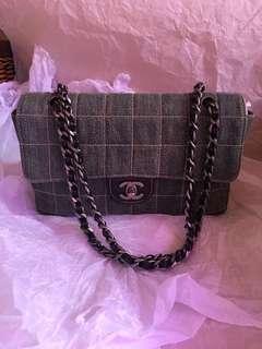 Chanel denim flap bag