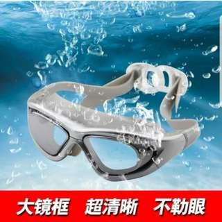 Big Frame Swimming Goggles/Mirrored Lens
