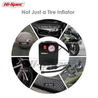 Hi-Spec 12V DC Portable Air Compressor Pump