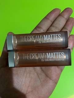 BN One Maybelline colorsensational creamy matte lipstick