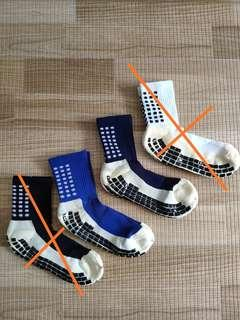 Trusox style non slip football soccer grip socks friction dots