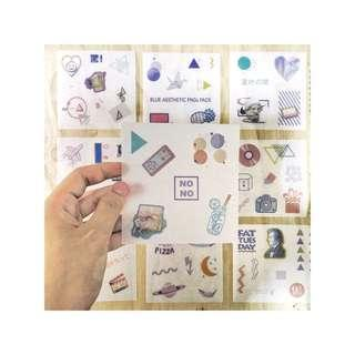 🚚 JAPANESE RADIO VIBE sticker sheets set