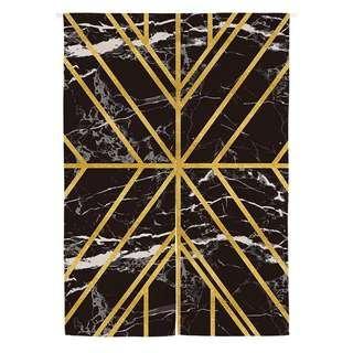 線紋北歐日式微裝潢門簾