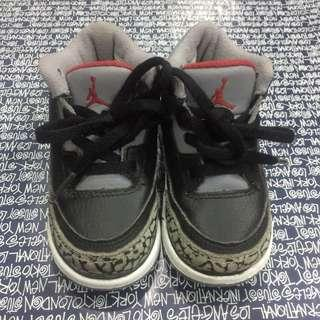Air Jordan Retro 3 Black Cement for baby/kids