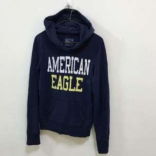 《台中》美國 American Eagle 深藍帽T 連帽上衣