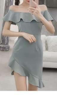 🚚 Seafoam Offshoulder Dress