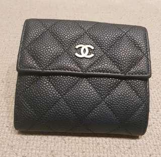 🚚 Chanel Compact Wallet (silver hardware)