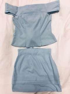 Off Shoulder Top & skirt