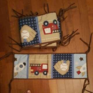 Baby cot bumper pads and quilt blanket