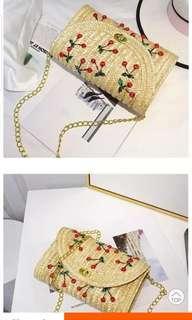 🚚 Cherry Straw Bag