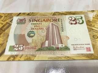 $25 banknote