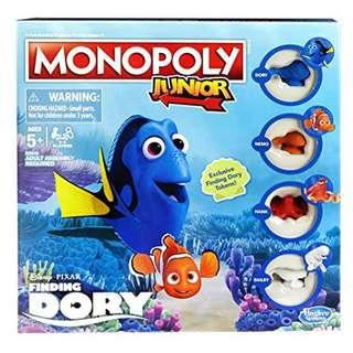 NEW & WRAPPED Monopoly Junior Finding Dory