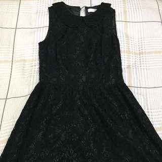 🚚 BYSI Simple Black Lace Dress