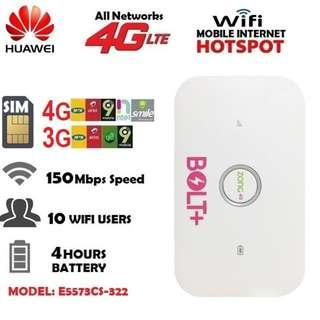 4G LTE Huawei E5573CS-322 MiFi Unlocked Dongle Wifi Router Mobile Hotspot Wireless iphone
