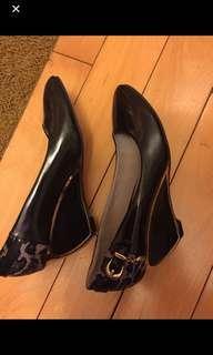 高跟鞋black leopard shoe