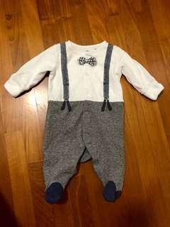 🚚 Baby Bow Tie Romper Bodysuit Sleepsuit