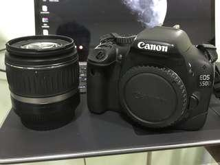 🚚 canon eos 550d with 18-55mm kit lens