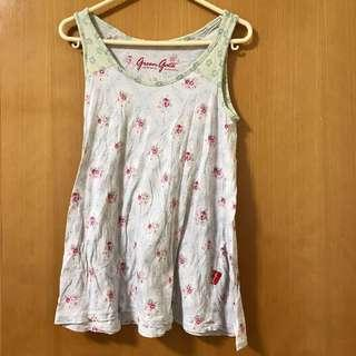 Green gate 碎花背心 floral sleeveless top