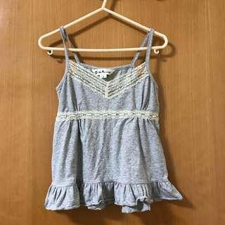 Z' By Kitterick 灰色吊帶衫 gray sleeveless top Size S