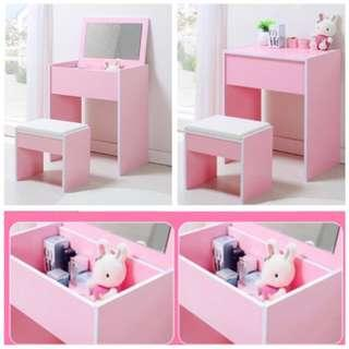 Preorder 2 in 1 dressing table, flip up dressing mirror
