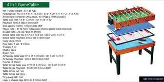 Kids 4 in 1 Game Table