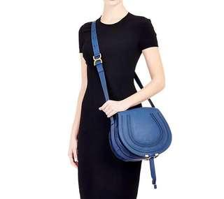 Chloe Marcie Crossbody Bag 海軍藍中款
