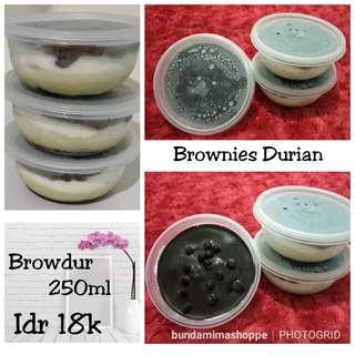 browdur Brownies Durian cup