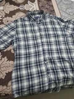 Kemeja flannel Zara Slim fit grey