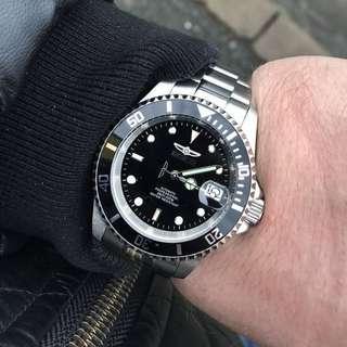 """[BNIB] Invicta """" Rolex Submariner Homage """" Automatic Pro Diver 200M Black Dial 8926OB Men's Watch"""